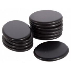 Piedras calientes de Basalto para terapias, 12 unidades de (064-HMB12)