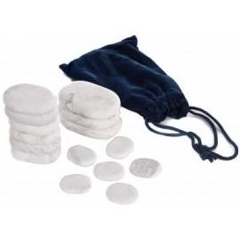 Set de Piedras frías de marmol para terapia. 15 unidades con 3 modelos diferefentes (064-H15TC)