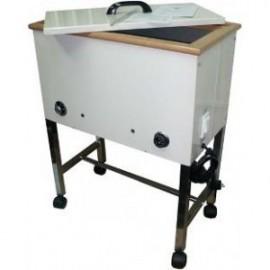 Baño de parafina rodable. Mueble metálico con ruedas. (MILLAS-R01A)