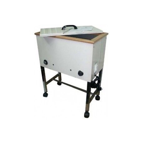 Ba o de parafina rodable mueble met lico con ruedas Muebles de bano con ruedas