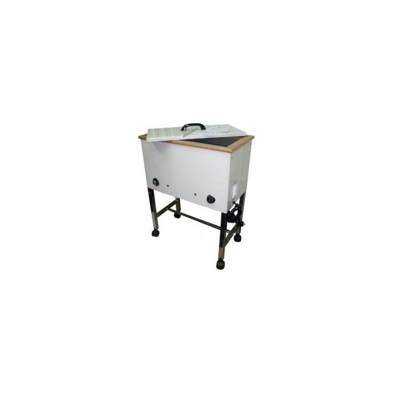 de parafina rodable. Mueble metálico con ruedas. (MILLAS-R01A)