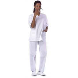 Casaca sanitario unisex en color blanco (B9200)