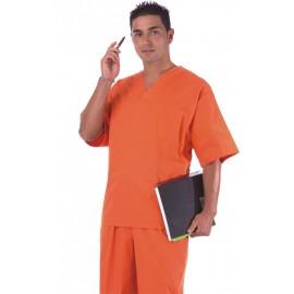 Casaca sanitaria unisex color naranja (B9200)