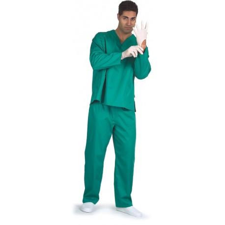 Casaca manga larga en color verde, blanco y celeste (B9210)