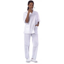 Pantalón clínico con elástico en cintura (B9300)