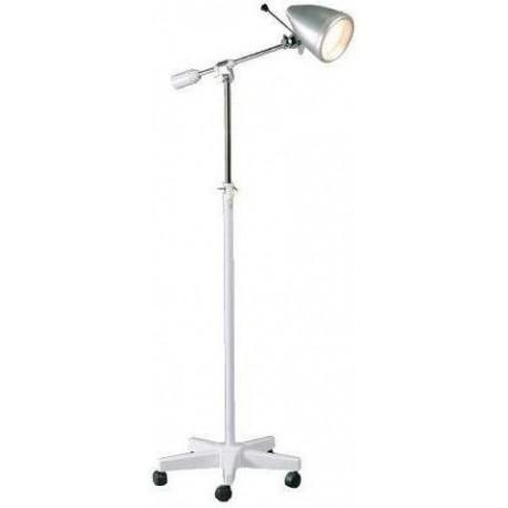 Lámpara de exploración médica, foco orientable, lámpara de 100W, peana de aluminio (MILLA-FOCO2000)
