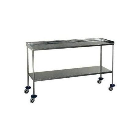Mesa para instrumental en acero inoxidable