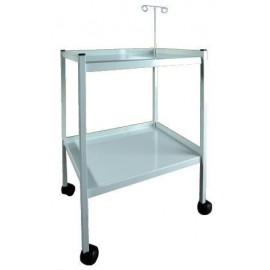 Mesa para electro con soporte regulable para cables, con 2 baldas acero esmaltado