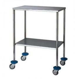 Mesa auxiliar para especialidades medicas 2 baldas