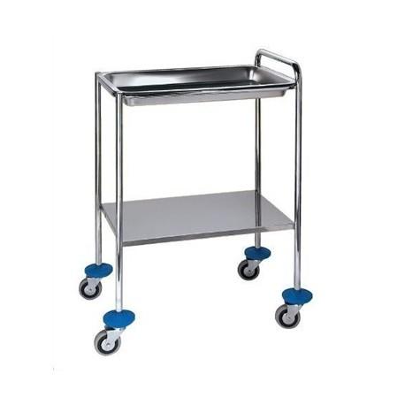 Mesa auxiliar para especialidades medicas con bandeja y balda (BG-122/2)