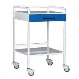 Mesa auxiliar para especialidades medicas acero, 1 cajón