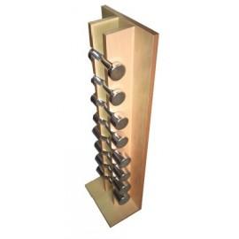 Juego de mancuernas de 1 a 4kg con soporte de madera (REG-FM-095)