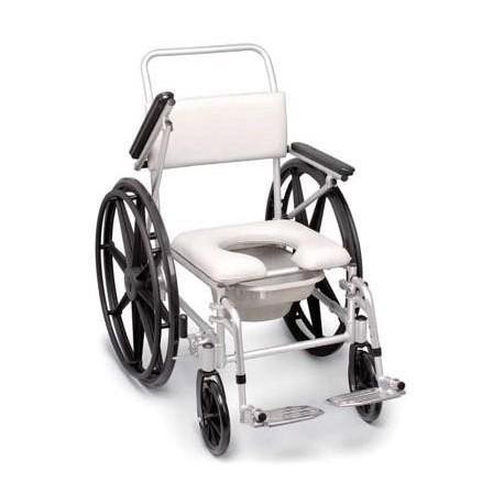 Silla de rueda para ducha y wc ort10402 - Silla de bano ortopedica ...