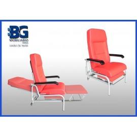 Sillón de tratamiento y traslado de enfermos con ruedas traseras (BG-237/2)
