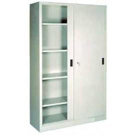 Armario para archivos con puertas correderas met licas con 4 baldas sin separaci n - Baldas para armarios ...