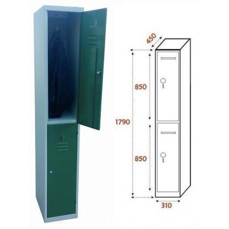 Taquilla Ancho 310. 1 Cuerpo. 2 Puertas (BG-T404/2)