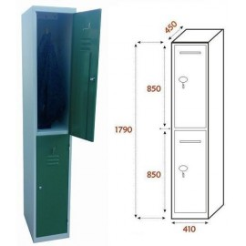 Taquilla Ancho 410. 1 Cuerpo. 2 Puertas (BG-T439/1)
