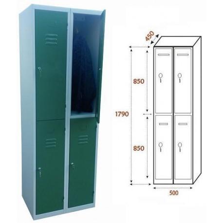 Taquilla Ancho 500. 2 Cuerpos. 4 Puertas (BG-T405/1)