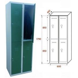 Taquilla Ancho 600. 2 Cuerpos. 4 Puertas (BG-T405/2)