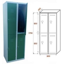Taquilla Ancho 800. 2 Cuerpos. 4 Puertas (BG-T441/1)