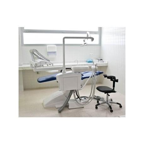 Sillón dental - odontológico eléctrico de gama alta con pedal de control, incluye silla de trabajo