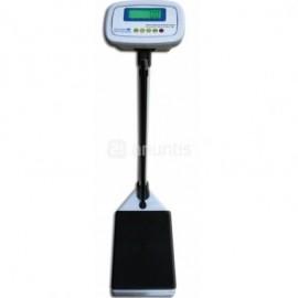 Bascula pesapersonas electronica digital con tallimetro, pantalla LCD y bateria interna. (00072C)