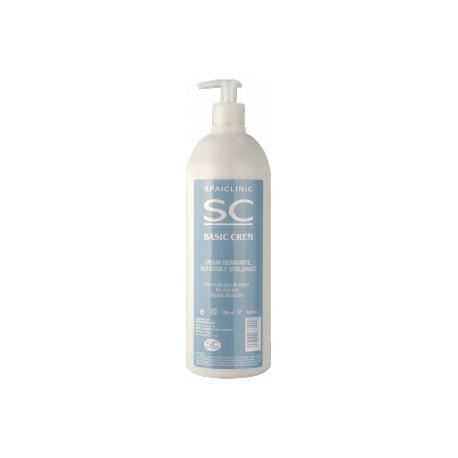 Basic Crem, crema de masaje neutra, bote de 1000 ml con dosificador (SC-521RC)