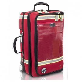 EMERAIR'S, maletín emergencias respiratorias poliamida rojo, con ruedas (EB02.025)