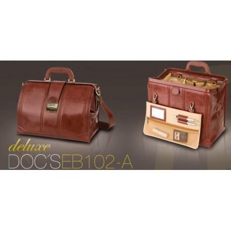 DOC'S Maletín tradicional piel marrón