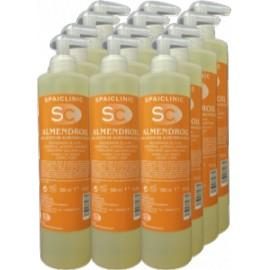 12 x Almendroil, aceite 100% de almendras, bote 500 ml con dosificador (SC-529RC)