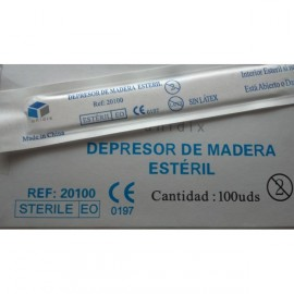 Depresores linguales estériles, caja 100 unidades (UNI-20100)