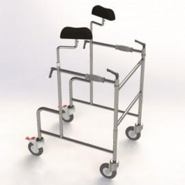 Andador Maxi-caminador axilar plegable 'GMA' con ruedas (AD252)