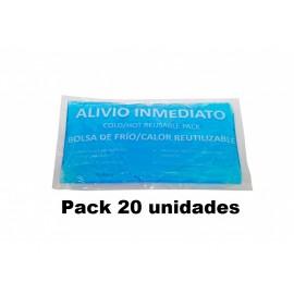 Pack de 20 Unidades de bolsas de frio-calor Reutilizables de 24X14  (CAL-41022)