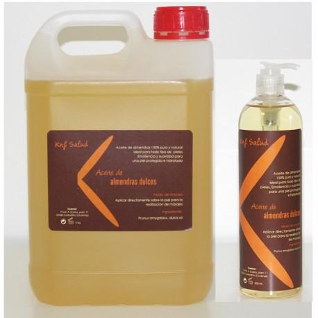 Garrafa de aceite de almendras 5 litros + bote 500ml de regalo (KNF-5LAlmendras)