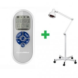 Electroestimulador 2 canales + Lámpara infrarrojos