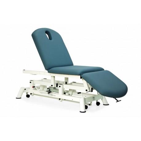 Camilla hidráulica 3 tipo sillón 3 cuerpos mobercas,  ruedas escamoteables(CH-2135-R)