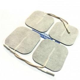 Electrodos adhesivos cuadrados cable 50X50 mm para TENS-EMS (LACA-CM5050)
