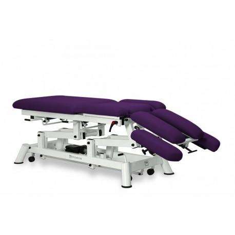 Camilla eléctricas para osteopatía 9 cuerpos mobercas, ruedas escamoteables y reposabrazos (CE-2190-ARPC)