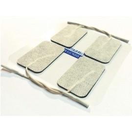 Electrodos adhesivos rectangulares cable 50X90 mm para TENS-EMS (LACA-CM5090)