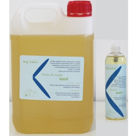 Garrafa de 5 litros de aceite de masaje neutro + bote 500ml, NEUTROIL (knf-5LNEUTROIL)