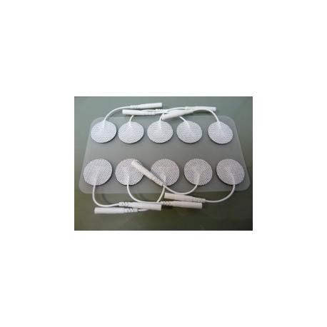 PACK 10 ELECTRODOS CIRCULARES AUTOADHESIVOS 2,5 cm EXTRA-PEQUEÑO (LACA-E-CM25)
