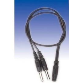 Cable duplicador conexión 2mm para electroestimulador (LACA-LTR348)