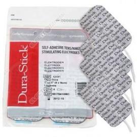 Electrodos adhesivos DURA-STICK rectangulares cable 50X90 mm para TENS-EMS