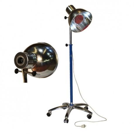 Lámpara de infrarrojos con peana de 5 ruedas