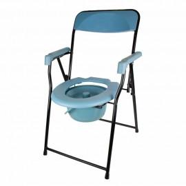 Silla WC PLEGABLE con deposito y inodoro (DRIVE-C017)