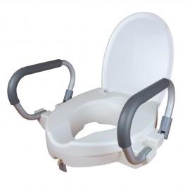 Elevador de inodoro con tapa y brazos (DRIVE-TSE150)