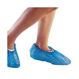 Cubrezapatos o calzas desechable plástico en color azul Gofrado 100 Unidades (UNI-09019)