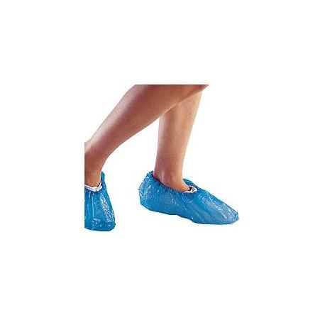 Cubrezapatos desechable plástico en color azul Gofrado 100 Unidades (UNI-09019)