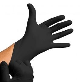 Guantes de Nitrilo sin polvo, color negro (100 unidades)
