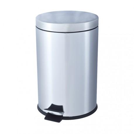 Papelera de inox blanco 20 litros con pedal